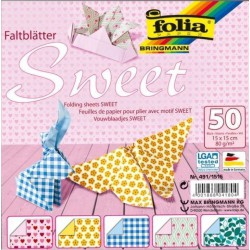 PAPEL ORIGAMI 50 Hj. 15x15 cm SWEET
