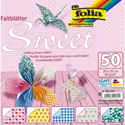 PAPEL ORIGAMI 50 Hj. 20x20 cm SWEET