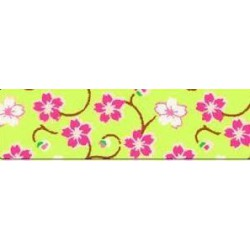 WASHI TAPE CINTA PAPEL 15 mm x 10 m FLORES