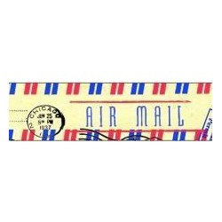 WASHI TAPE CINTA PAPEL 15 mm x 10 m AIR MAIL