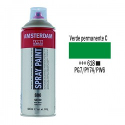 SPRAY ACRILICO 400 ml (618) VERDE PERM. CLARO