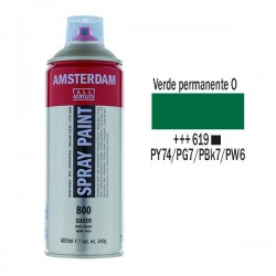 SPRAY ACRILICO 400 ml (619) VERDE PERM. OSC.