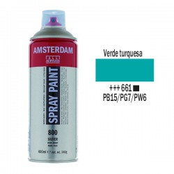 SPRAY ACRILICO 400 ml (661) VERDE TURQUESA