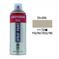 SPRAY ACRILICO 400 ml (718) GRIS CALIDO
