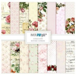 Set 10 Hj. papel Scrap FOR YOU 30,5x30,5 cm Botanic Garden