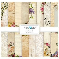 Set 10 Hj. papel Scrap FOR YOU 30,5x30,5 cm Elegance