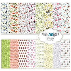 Set 12 Hj. papel Scrap FOR YOU 30,5x30,5 cm Flowers
