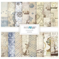 Set 10 Hj. papel Scrap FOR YOU 30,5x30,5 cm Maritim