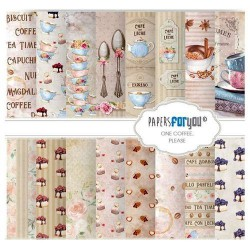 Set 12 Hj. papel Scrap FOR YOU 30,5x30,5 cm Coffee