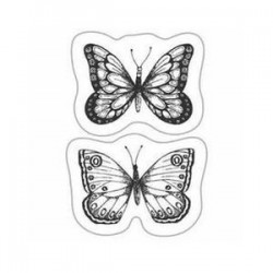 Sello Silicona 2,3x3 cm Cart-Us Dos Mariposas