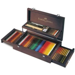 CAJA MADERA ART and GRAPHIC 126 Pzas. FABER-CASTELL