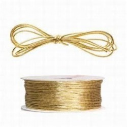 CORDON REDONDO 1 mm 100 m  METALIZADO ORO