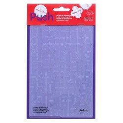 Carpeta de repujado 2D PUSH (41018) 127x178 mm Pared