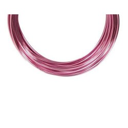 Alambre de Aluminio 1 mm rollo 10 m color Rosa