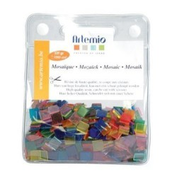 Mosaico sintetico 10x10x2 mm 1000 Un. Clear kids