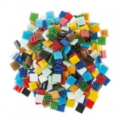 Mosaico Glass 10x10x4 mm 300 Un. Multicolor