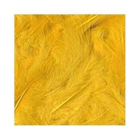 Plumas Suaves 3 gr de 80 a 120 mm color Amarillo