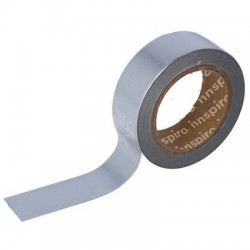 Washi Tape Metalizado 15 mm x 10 m Liso Plata