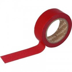 Washi Tape de Papel 15 mm x 10 m Rojo