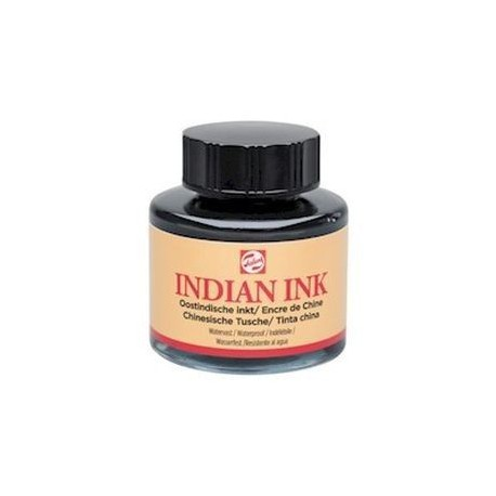 Tinta China Talens indeleble 30 ml Negro