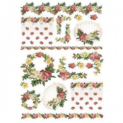 Papel de Arroz 35x50 cm DEC289 Little Rose