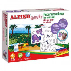 Kit Alpino Activity Recorta y colorea
