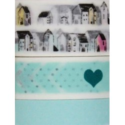 PACK 3 WASHI TAPE CINTA PAPEL LITTLE WORLD
