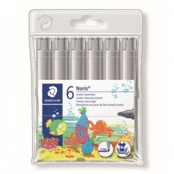 Pack 6 Rotuladores Staedtler Noris 340-8 Gris