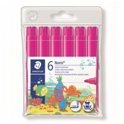 Pack 6 Rotuladores Staedtler Noris 340-20 Rosa Magenta