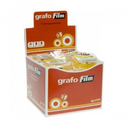 Cinta adhesiva Grafo Film 33 m x 19 mm Transparente