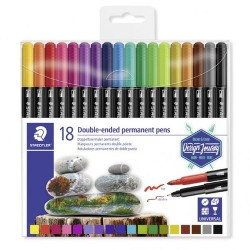 Set 18 Rotul. Staedtler Permanent DUO 3187-TB18
