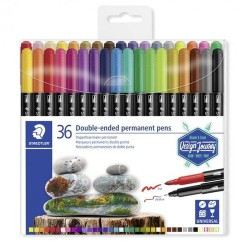 Set 36 Rotuladores Staedtler Permanent DUO 3187-TB18