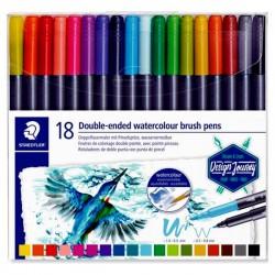 Set 18 Rotul. Staedtler Duo Acuarelables