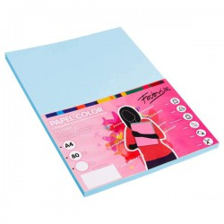 Pack 100 Hojas A4 papel 80 gr. Azul Pastel