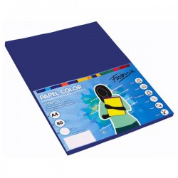 Pack 100 Hojas A4 papel 80 gr. Azul Oscuro