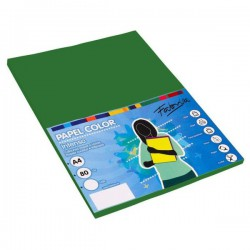 Pack 100 Hojas A4 papel 80 gr. Verde Oscuro