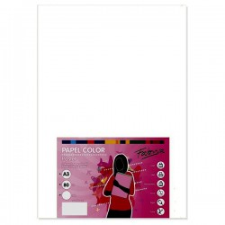 Pack 100 Hojas A3 papel 80 gr. Color Blanco