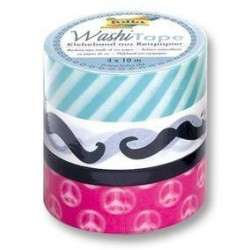 PACK 4 WASHI TAPE CINTA PAPEL TREND