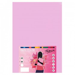 Pack 100 Hojas A3 papel 80 gr. Rosa Claro