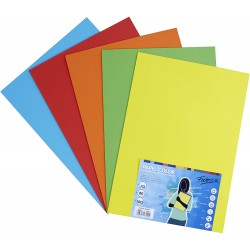 Pack 100 Hojas A3 papel 80 gr. Surtido Color Intenso