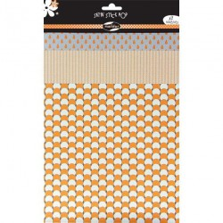 WASHI 3 Hj. TELA ADHES. SATIN SURT. POP MANDARINA
