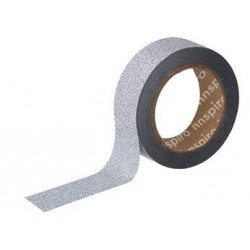 WASHI TAPE GLITTER 15 mm x 6,5 m PLATA