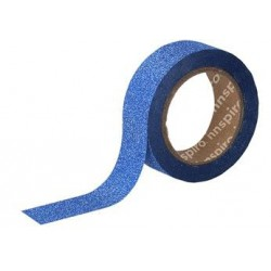 WASHI TAPE GLITTER CINTA 15 mm x 6,5 m AZUL