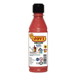 PINTURA ACRILICA JOVI DECOR 250 ml ROJO