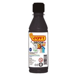 PINTURA ACRILICA JOVI DECOR 250 ml NEGRO