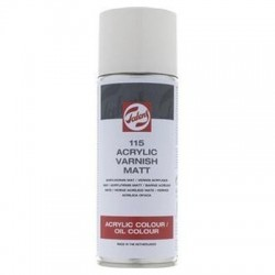 SPRAY BARNIZ ACRILICO MATE (115) 400 ml TALENS