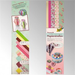 TIRAS PAPEL QUILLING 10, 15 y 20 mm ROMANCE